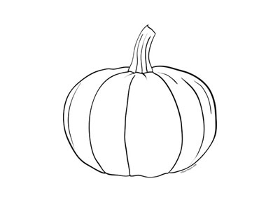 halloween small coloring pages   Pumpkin colouring page