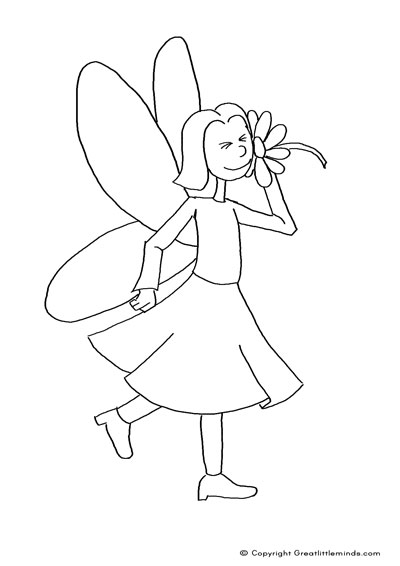 fairy with flower