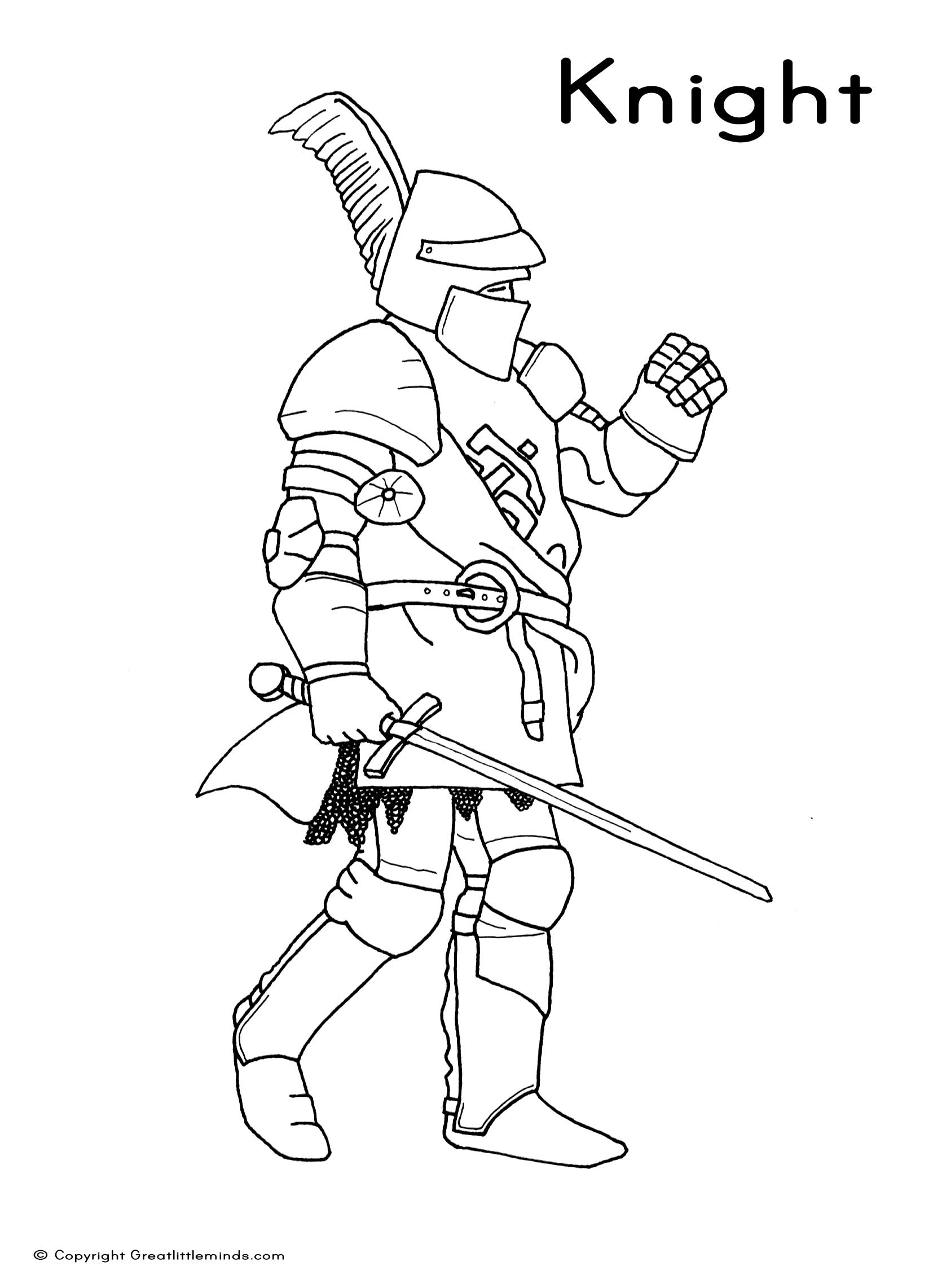 printable knight coloring pages - photo#36