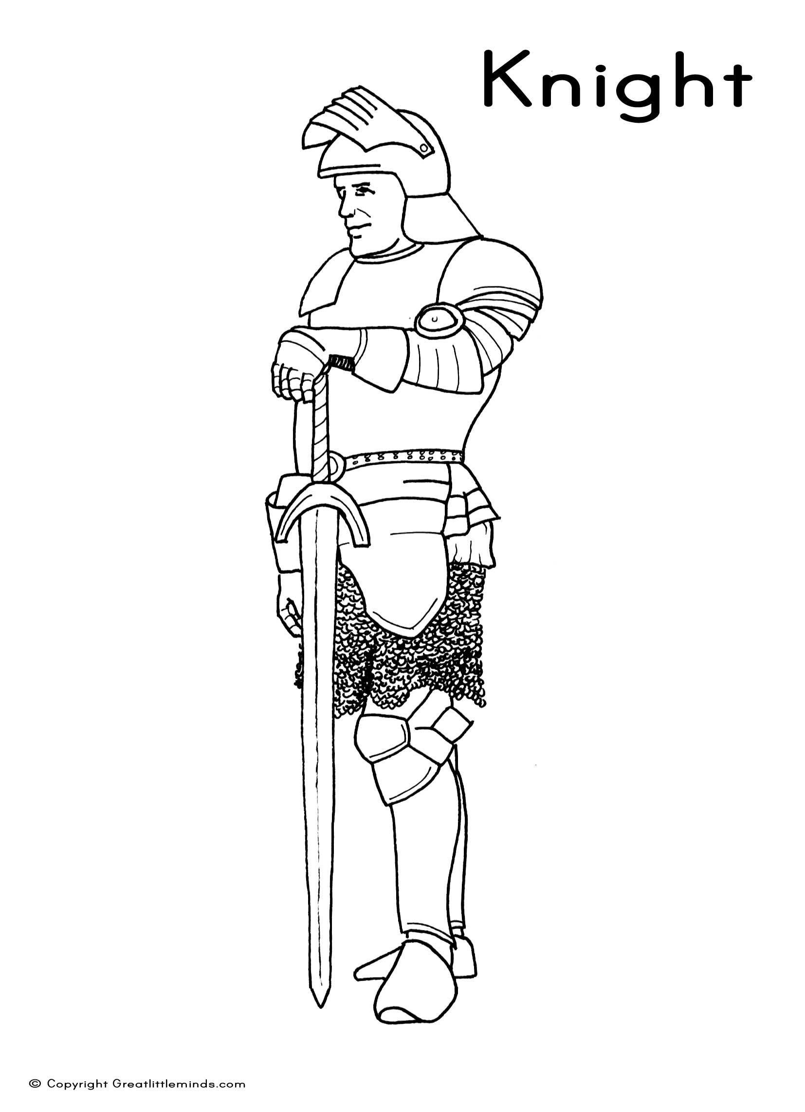 medieval coloring pages knight - photo#20