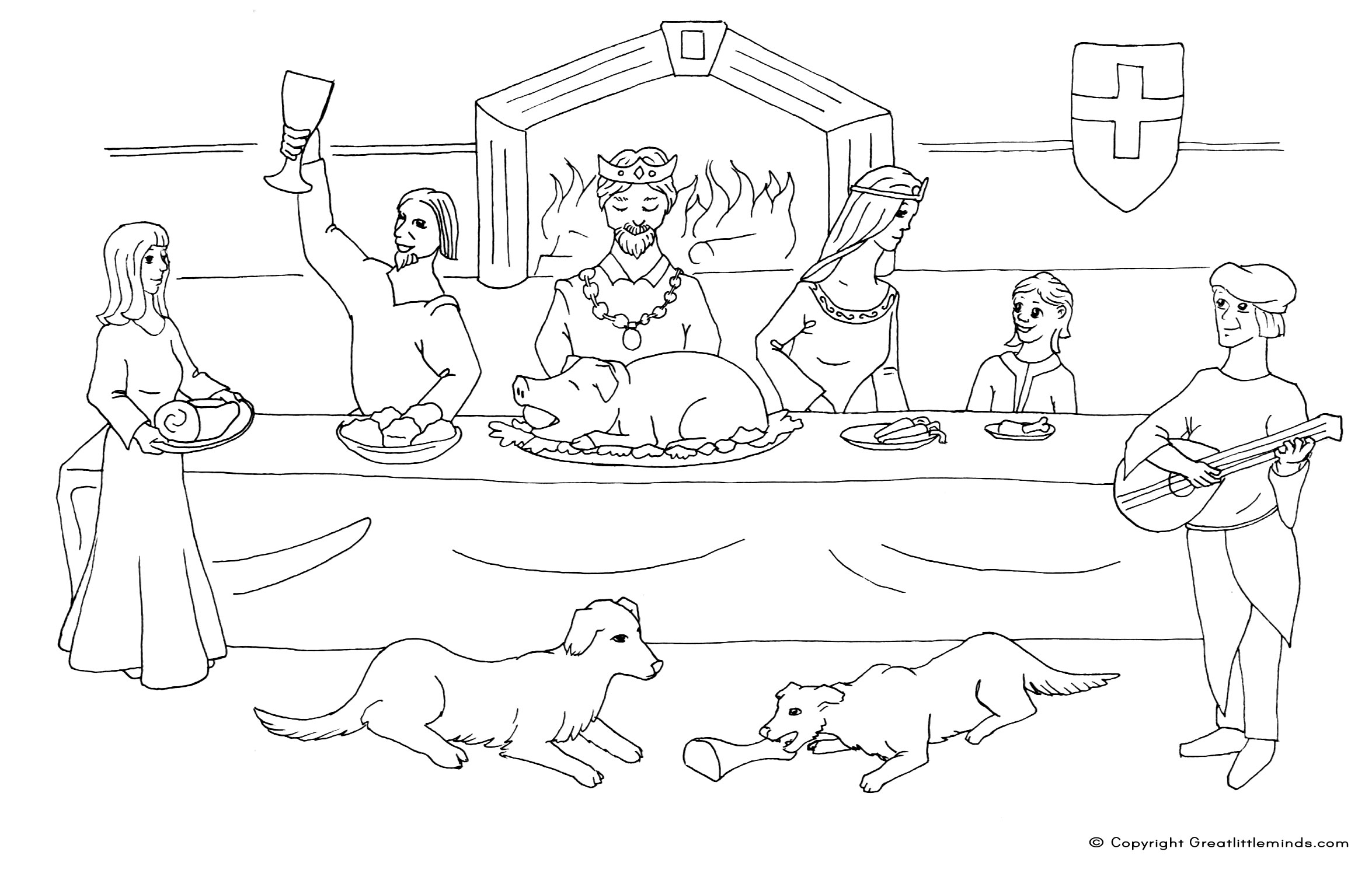 medieval coloring pages feast - photo#1