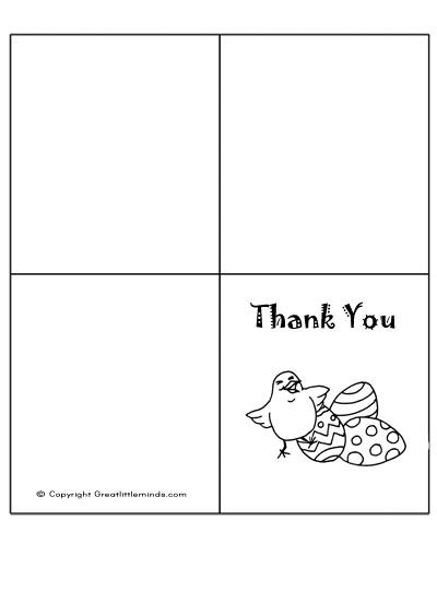 easter thank you card