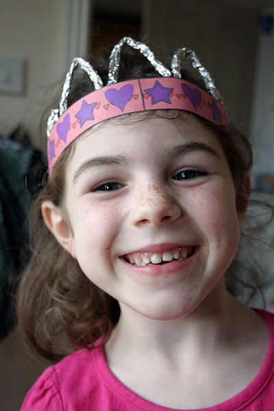 make your own fairy crown finished version