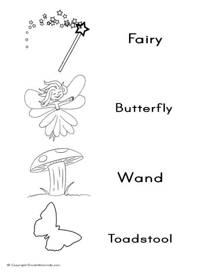 fairy word match