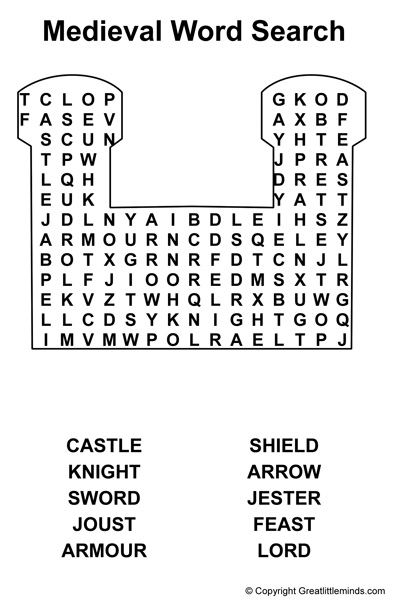 medieval word search